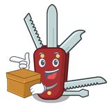 With box penknife in the a character shape stock illustration