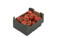 Box of Peppers Royalty Free Stock Images