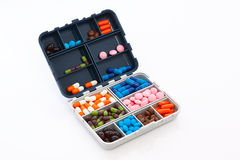 Box with pills Stock Photography