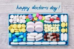 Box with pills. Stock Image