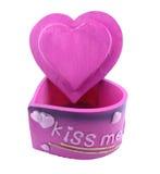 Box of pink heart-shaped Royalty Free Stock Photo
