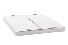 Box for pizza isolated on white background Royalty Free Stock Image