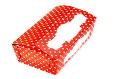Box with polka dots royalty free stock photography