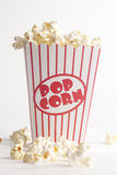 Box of popcorn. A box of fresh popcorn royalty free stock photography