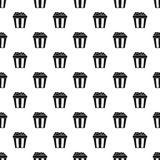 Box of popcorn pattern, simple style Royalty Free Stock Photos