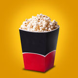 Box of popcorn Stock Photo