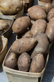 Box of potatoes Stock Image