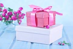 Box for present Stock Photos