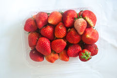 Box or punnet of strawberries Stock Image