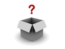 Box with question Stock Image