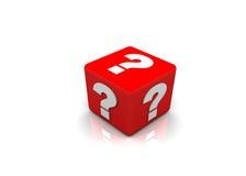 Box question mark Stock Photos
