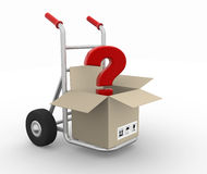 Box with question mark Stock Photo