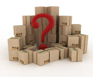 Box with question mark Royalty Free Stock Photo