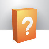 Box with question mark Stock Photography