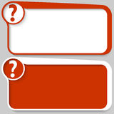 Box and question mark Stock Images