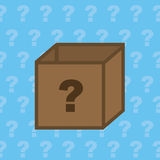 Box Question Royalty Free Stock Photo