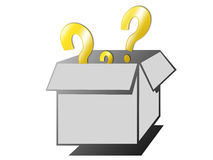 Box of questions Stock Photos