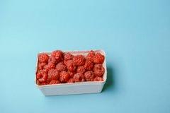 Box of raspberries Royalty Free Stock Image