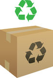 Box Recycle Icon Royalty Free Stock Photography