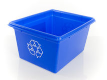 Box recycling. Isolated white background Stock Images