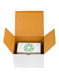 Box with recycling sign Stock Image