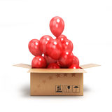Box with red balls Royalty Free Stock Images