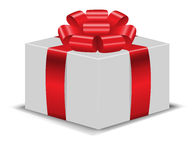 The box with red bow 2 Royalty Free Stock Photo