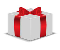 The box with red bow Royalty Free Stock Photos