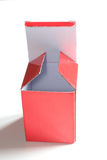 Box of red cardboard Royalty Free Stock Photography