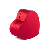 Box red heart on white background royalty free stock images