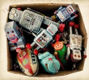 A box of retro toys Stock Photos