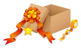 A box with a ribbon Royalty Free Stock Photos