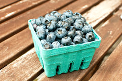 Box with ripe blueberry Royalty Free Stock Photos
