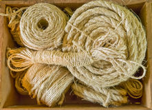 Box of rope and twine Stock Image