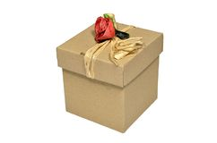 Box with rose Stock Photography