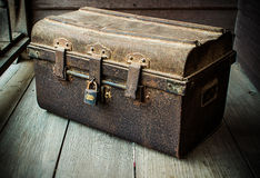 Box of old. Box is rust for vintage Royalty Free Stock Images