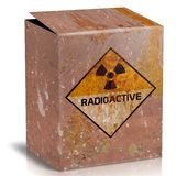 Box of rusted iron. For radioactive material Royalty Free Stock Images