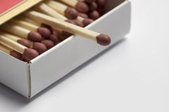 Box of safety-matches Royalty Free Stock Photo