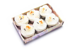 Box of Scented Candles Stock Photo