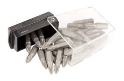 Box Of Screwdriver Bits Royalty Free Stock Photography