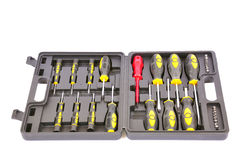 Box with screwdrivers Stock Photos