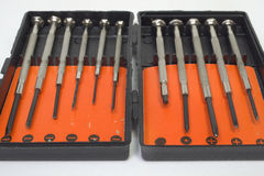 Box of screwdrivers for precision work Stock Photography