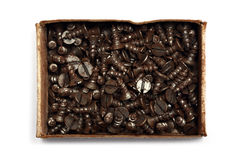 Box of screws Royalty Free Stock Images