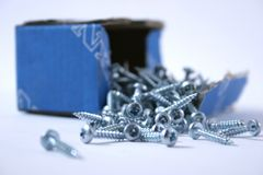 Box of Screws Stock Images