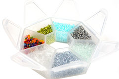 Box with seabeads Stock Photos