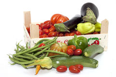 Box of seasonal vegetables mixed Stock Photo