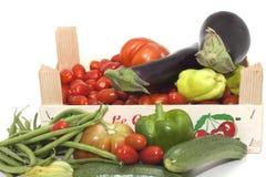Box of seasonal vegetables mixed Stock Image