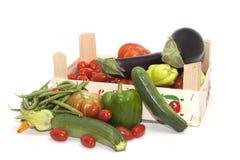 Box of seasonal vegetables mixed Stock Photos
