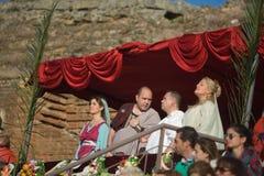 Box seat patricians Royalty Free Stock Photo