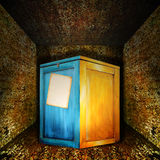 A box of Secrets and puzzle room. Royalty Free Stock Photos